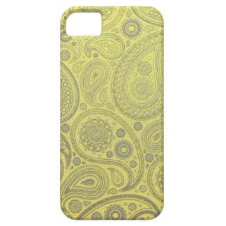 Yellow fabric paisley pattern iPhone 5 case