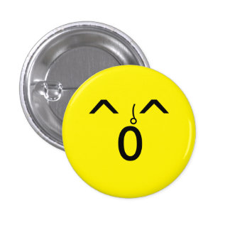 Yellow face 1 inch round button