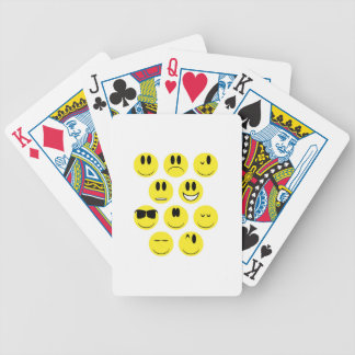 Yellow Face Icons Bicycle Playing Cards