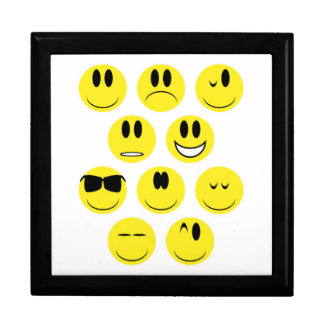 Yellow Face Icons Gift Box