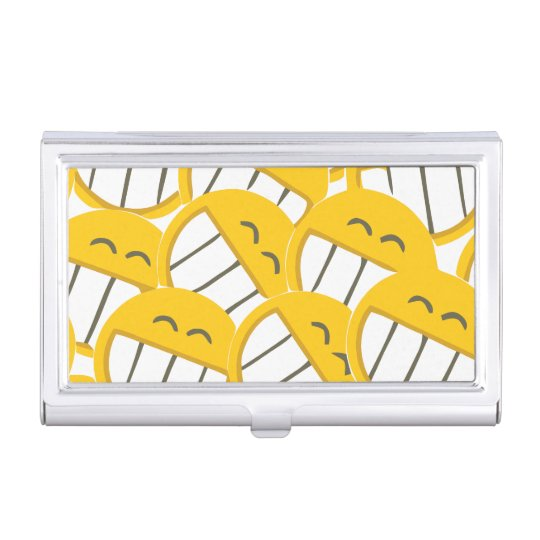 Yellow Family Business Card Holder