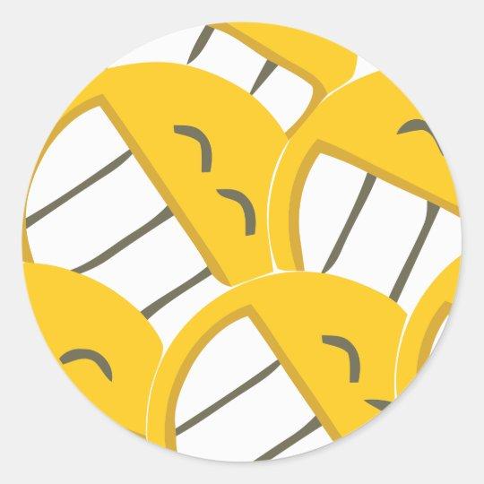 Yellow Family Classic Round Sticker