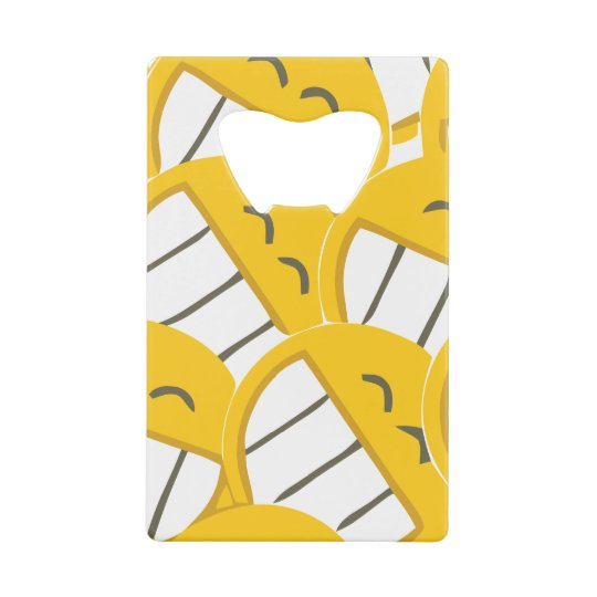 Yellow Family Credit Card Bottle Opener