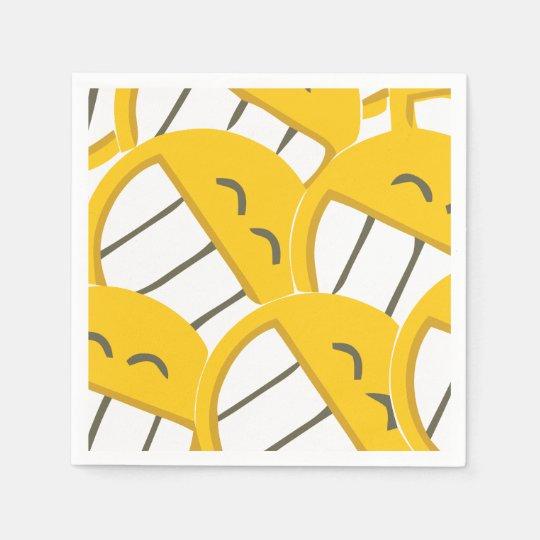 Yellow Family Disposable Napkins