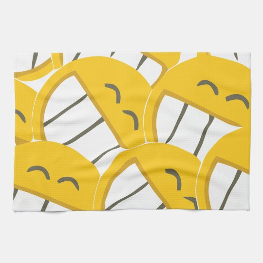 Yellow Family Kitchen Towel