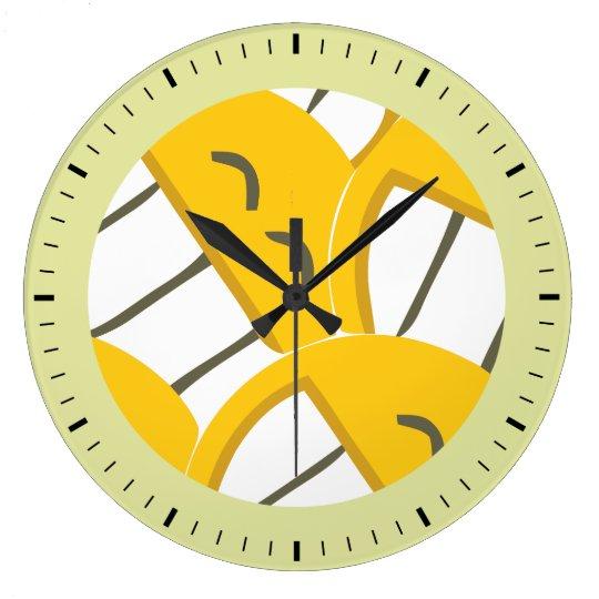 Yellow Family Large Clock
