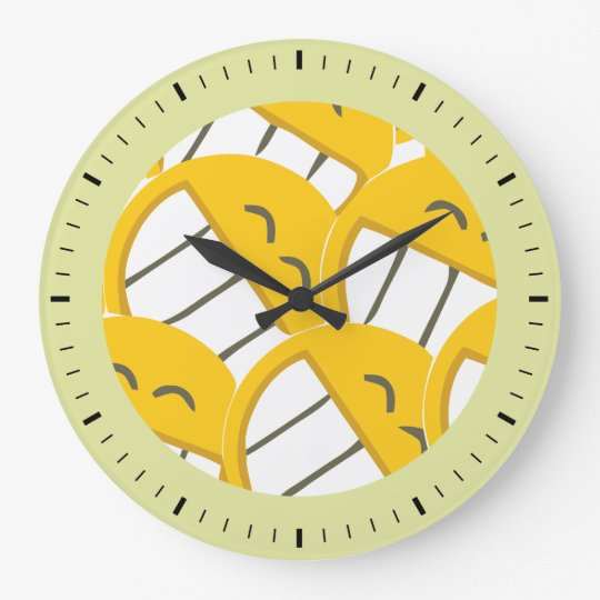 Yellow Family Large Clock
