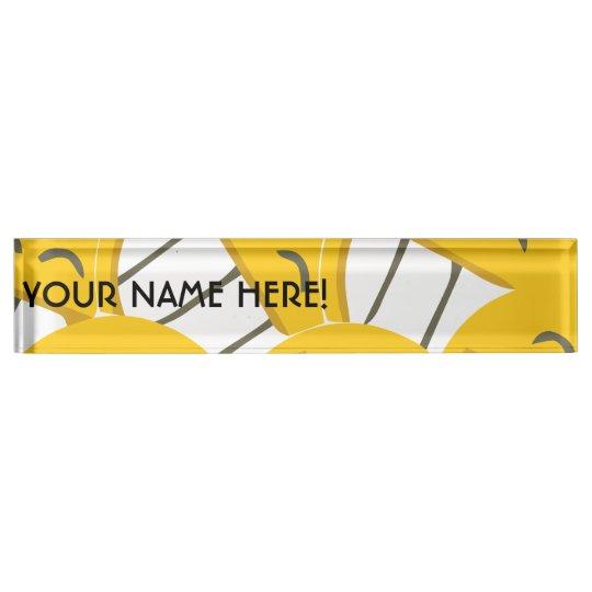 Yellow Family Name Plate