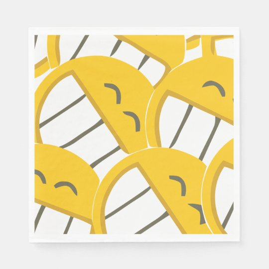 Yellow Family Paper Napkin