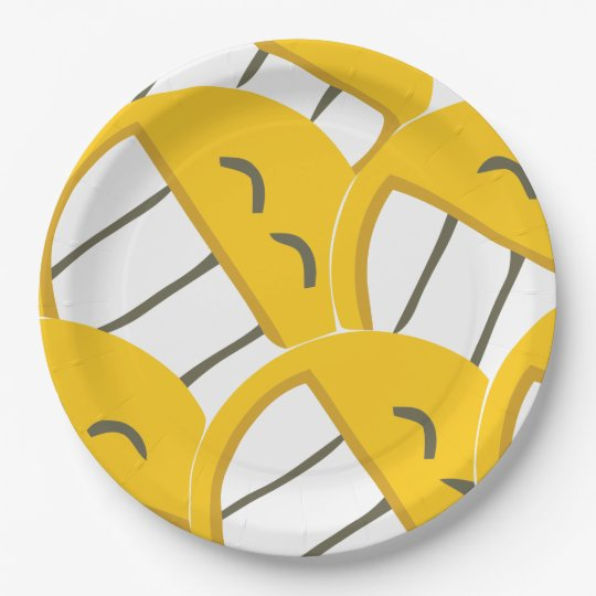 Yellow Family Paper Plate