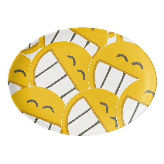 Yellow Family Porcelain Serving Platter