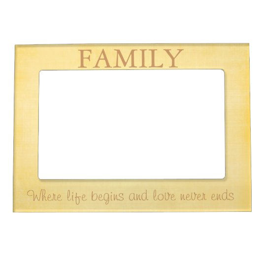 Yellow Family Quote Magnetic Picture Frame