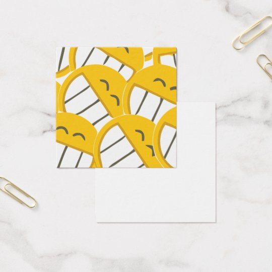 Yellow Family Square Business Card
