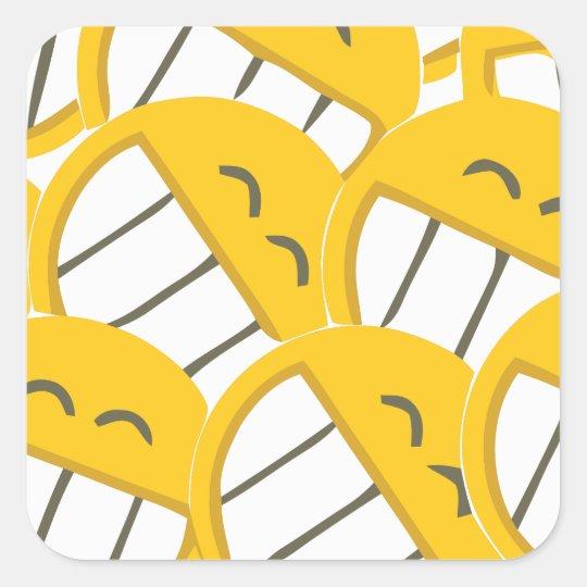 Yellow Family Square Sticker