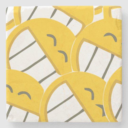 Yellow Family Stone Coaster