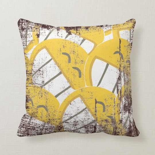 Yellow Family Throw Pillow