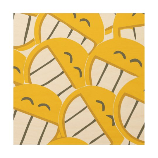 Yellow Family Wood Print