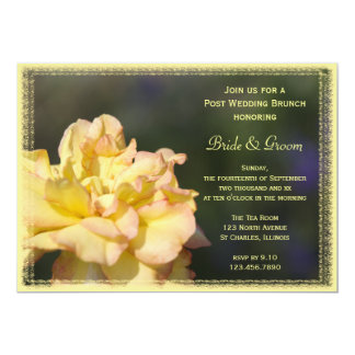 Yellow Fancy Rose Post Wedding Brunch Invitation