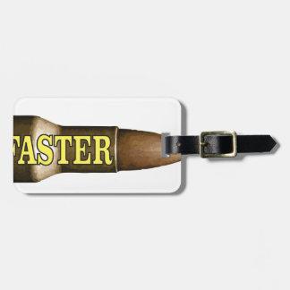yellow fast bullet bag tag