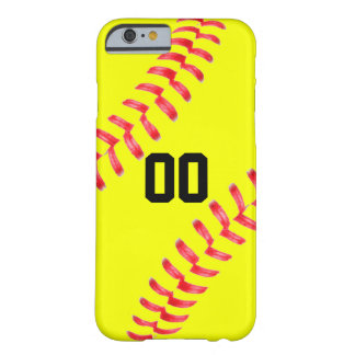 Yellow Fastpitch Softball Custom iPhone Case Cover