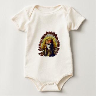 Yellow Feather Baby Bodysuit