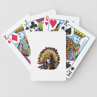 Yellow Feather Bicycle Playing Cards