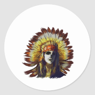 Yellow Feather Classic Round Sticker