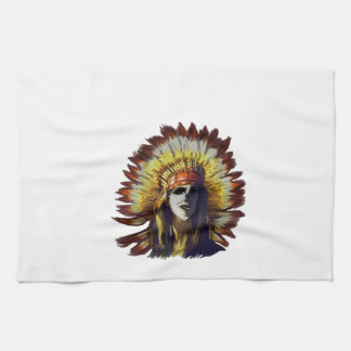 Yellow Feather Kitchen Towel