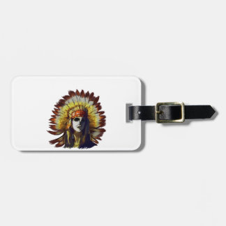 Yellow Feather Luggage Tag