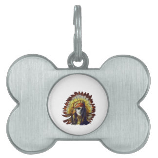 Yellow Feather Pet Tag