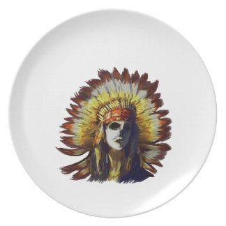 Yellow Feather Plate