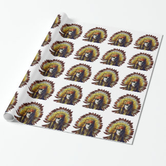 Yellow Feather Wrapping Paper