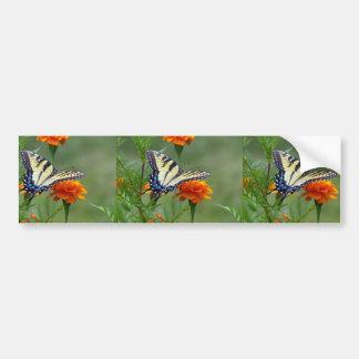 Yellow female Eastern Tiger Swallowtail Bumper Sticker