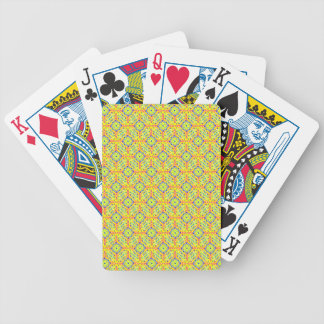 Yellow Festival Pattern Bicycle Playing Cards