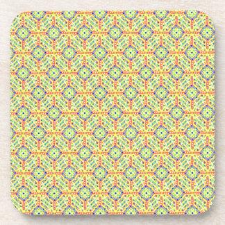 Yellow Festival Pattern Coaster