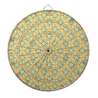Yellow Festival Pattern Dartboard