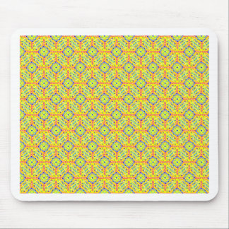 Yellow Festival Pattern Mouse Pad