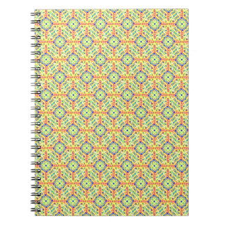 Yellow Festival Pattern Notebook