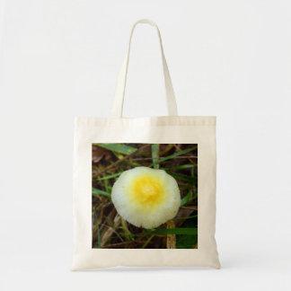 Yellow Field Cap Mushroom Tote Bag