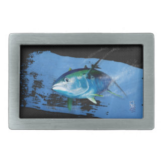 Yellow fin tuna belt buckle. belt buckle