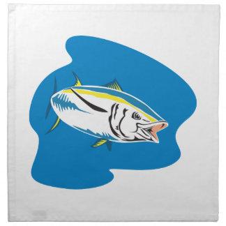 Yellow Fin Tuna Fish Retro Napkin