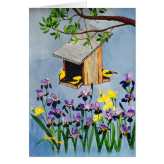 Yellow Finch Blank Card