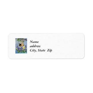 Yellow Finch Return address Label
