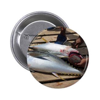 yellow fins tuna 2 inch round button