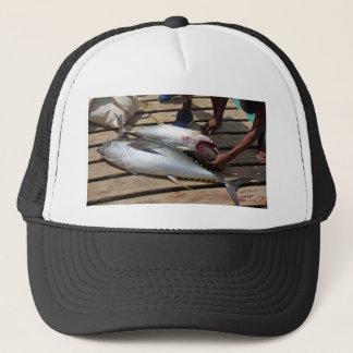 yellow fins tuna trucker hat