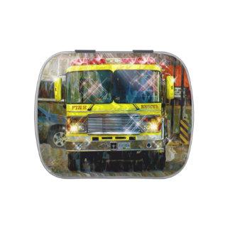 Yellow Fire Engine Fire Truck Art