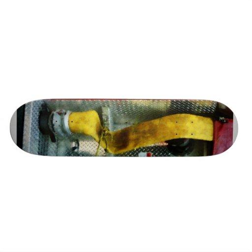 Yellow Fire Hose Custom Skateboard