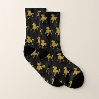 Yellow Fire Unicorn Socks 1