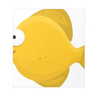 Yellow Fish Cartoon Notepad
