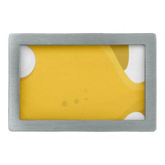 Yellow Fish Cartoon Rectangular Belt Buckles